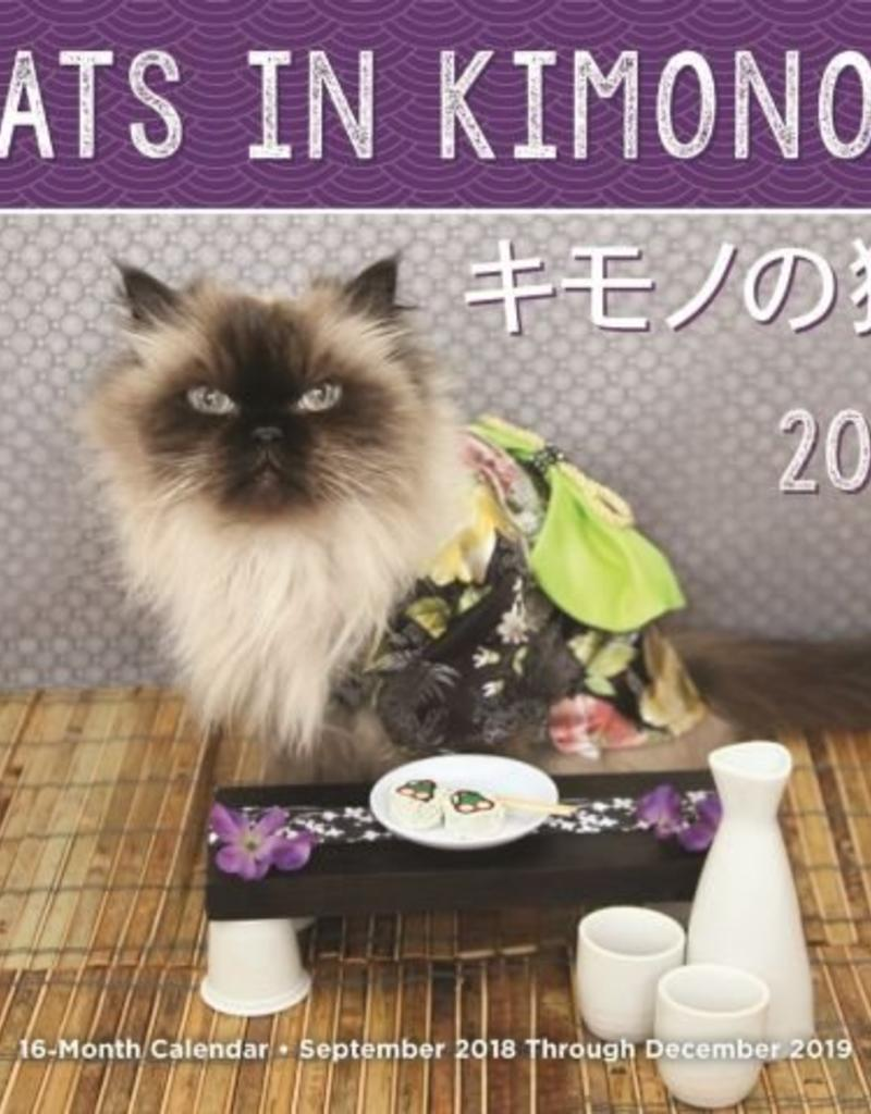 Quarto Cats in Kimonos Wall Calendar 2019