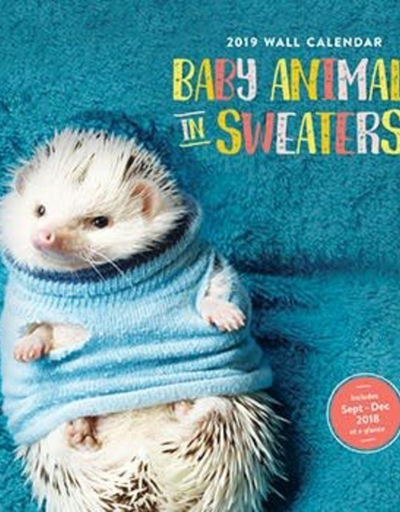 Chronicle Baby Animals in Sweaters 2019 Wall Calendar