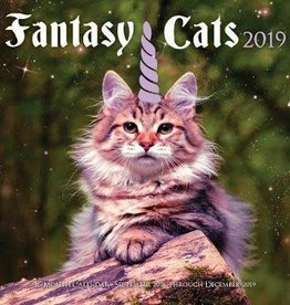 Quarto Fantasy Cats Wall Calendar 2019