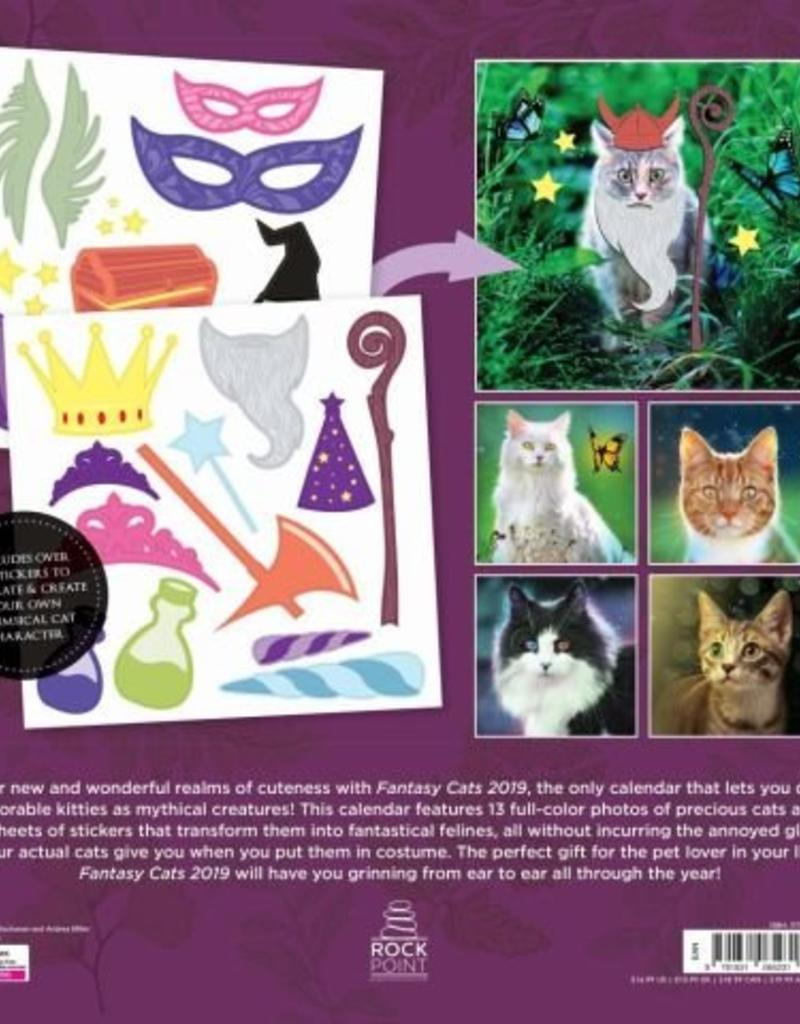 Quarto Fantasy Cats Wall Calendar 2019