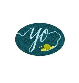 Frog & Toad Press Yo Snail Bumper Sticker