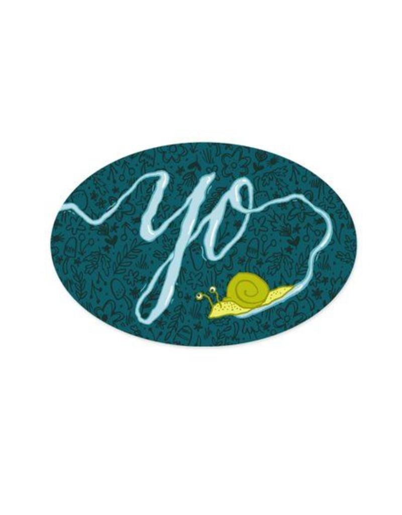 Frog & Toad Press Yo Snail Bumper Sticker
