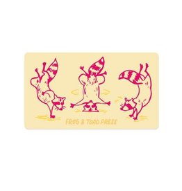 Frog & Toad Press Breakdancing Raccoon Bumper Sticker