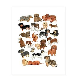 Cactus Club Paper Doxie Dudes (Dachsunds) Print
