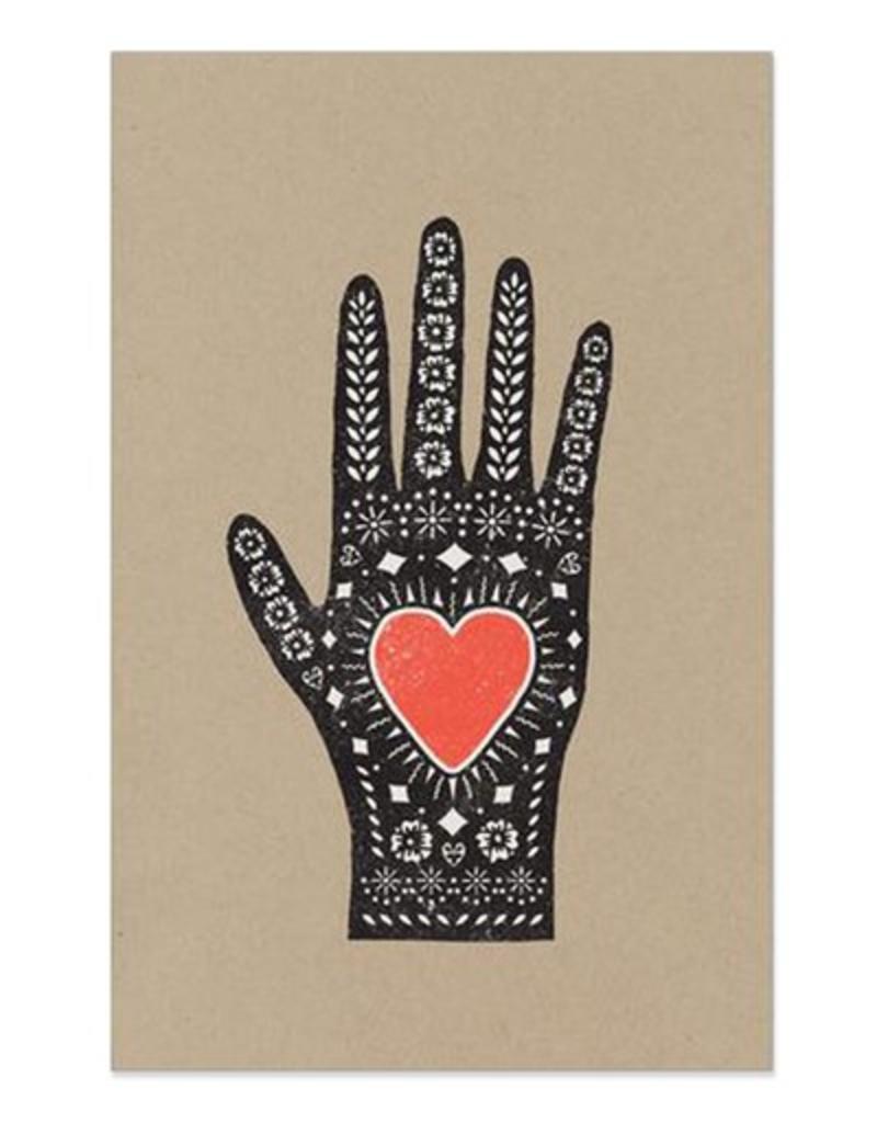Hammerpress Heart in Hand Print