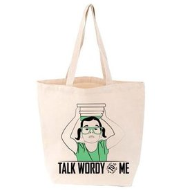 Gibbs Smith Talk Wordy to Me Tote