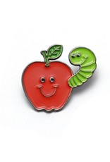 Apple & Worm Buddies Enamel Pin
