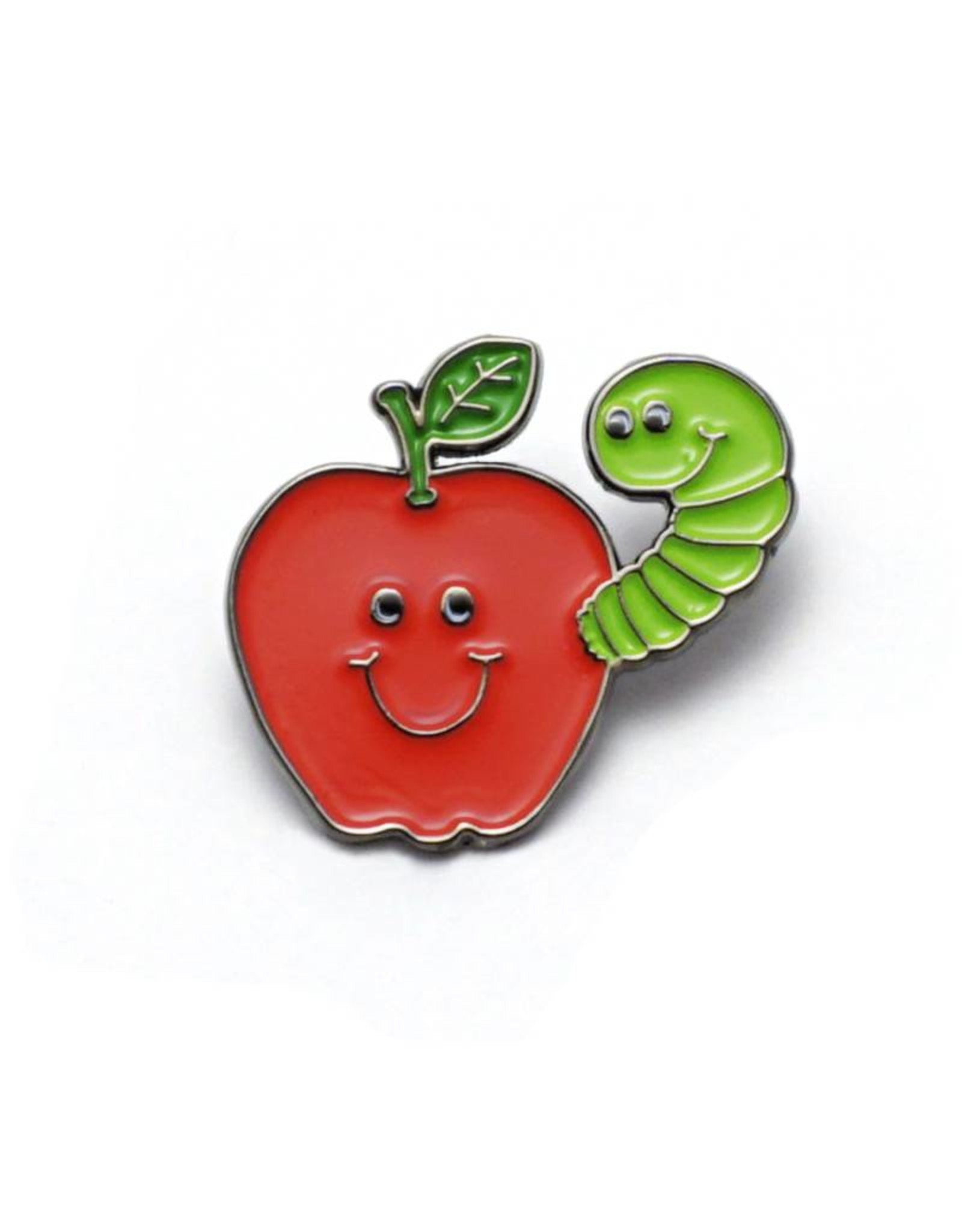 Apple & Worm Buddies Enamel Pin