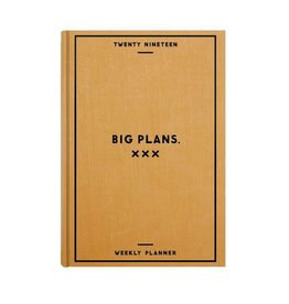 "Easy, Tiger ""Big Plans"" 2019 Weekly Planner"