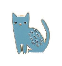 Blue Cat Enamel Pin