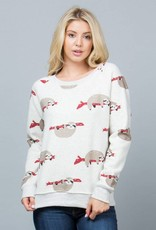 LA Soul Sloth Print Sweatshirt
