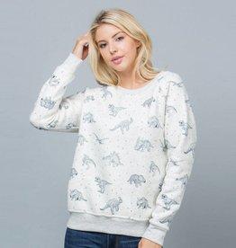 LA Soul Dinosaur Print Sweatshirt