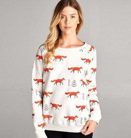 LA Soul Fox Print Sweatshirt