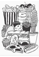 Snack Food Letterpress Print