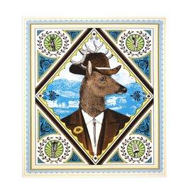 Folk Deer Print