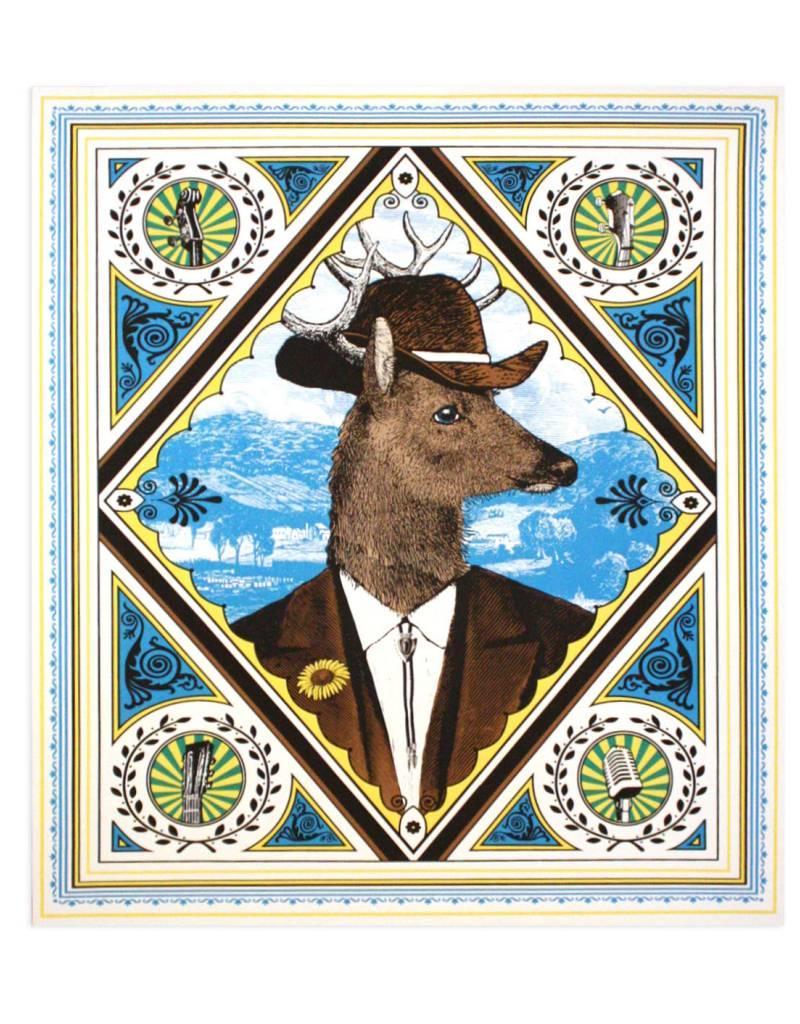 Nate Duval Folk Deer Print