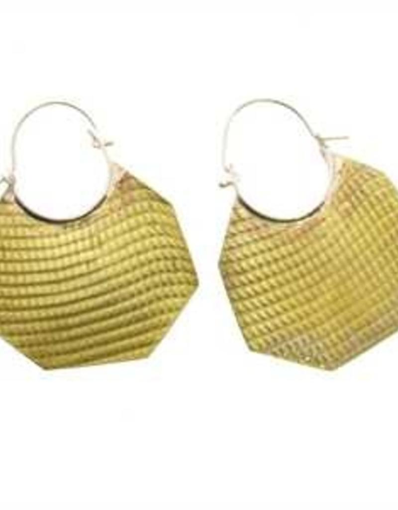 HomArt Brass Octagon Earrings