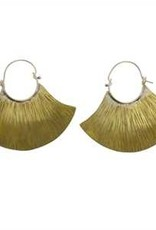 HomArt Brass Fan Earrings