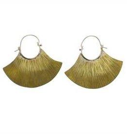 HomArt Brass Fan Earrings