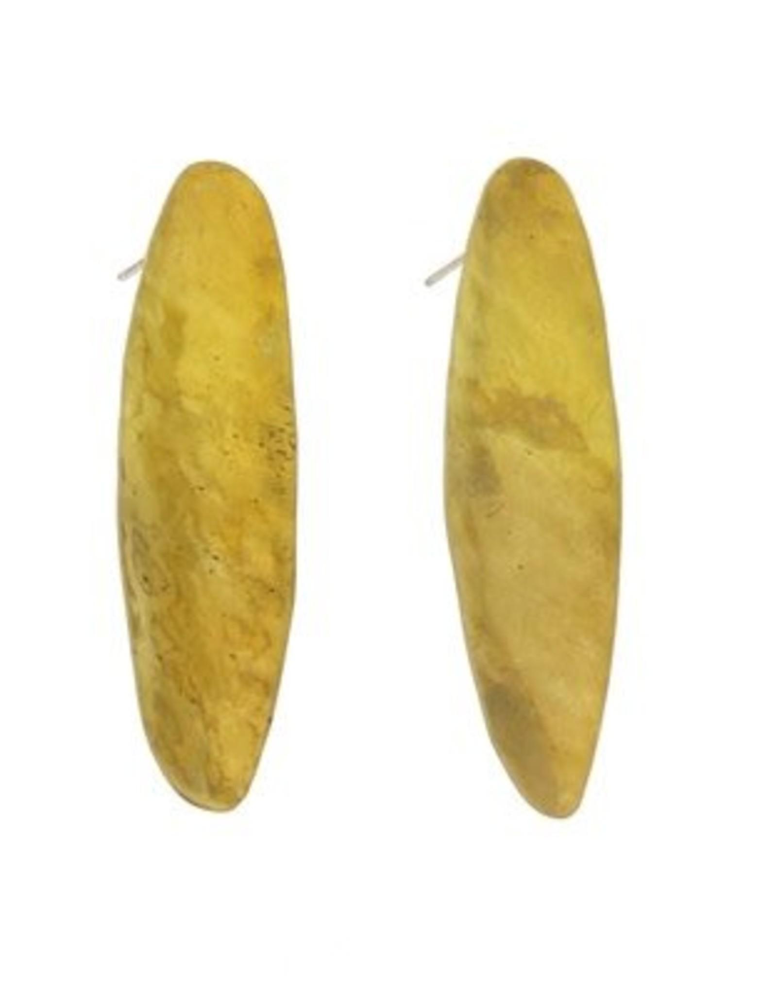 Brass Pod Earrings