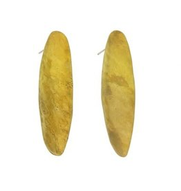 HomArt Brass Pod Earrings