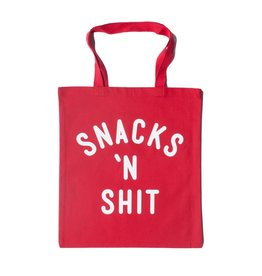 Headline Snacks & Shit Tote Bag