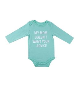 Hello World My Mom Longsleeve Onesie (3-6 months)