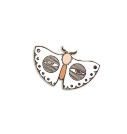Paper Shuttle White Moth Enamel Pin