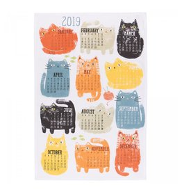 Now Designs Purrfect Year Tea Towel - 2019