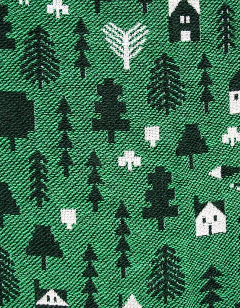 Forest and Waves Into the Woods Blanket