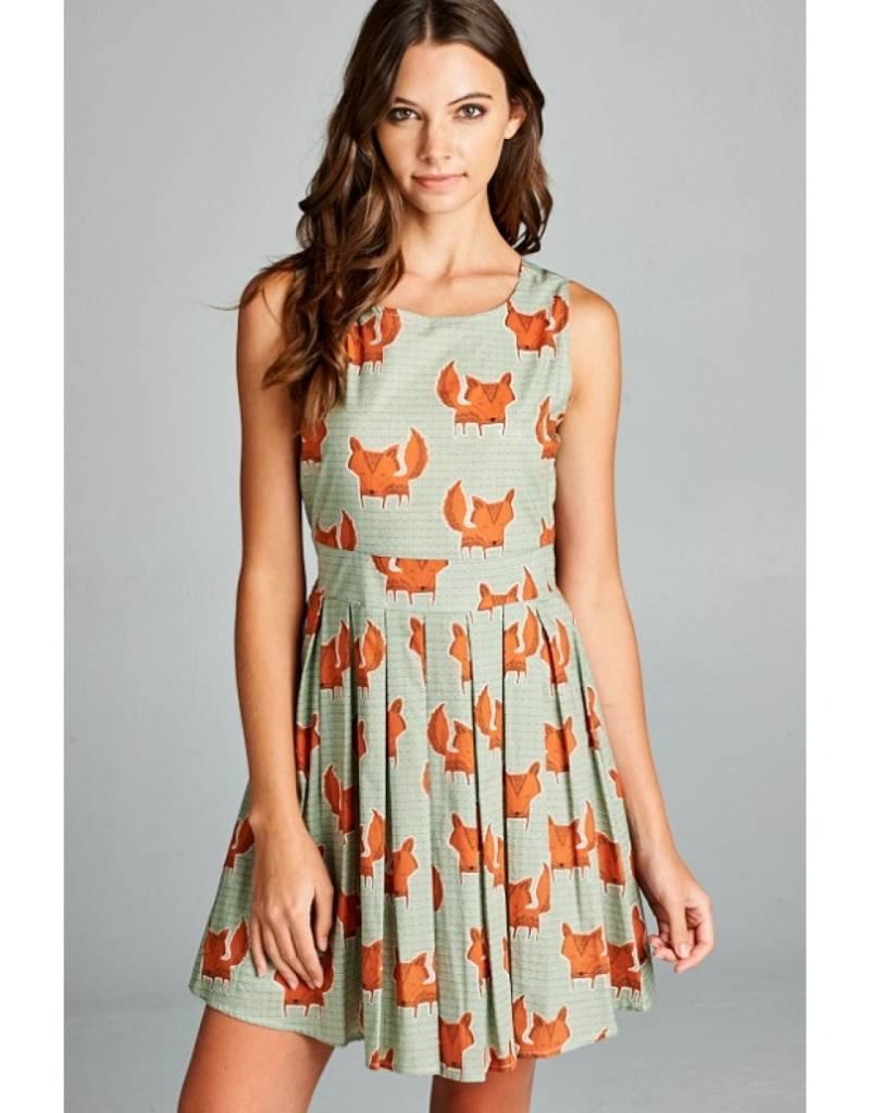 LA Soul Fox Print Dress