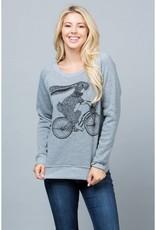 LA Soul Rabbit on a Bike Sweatshirt