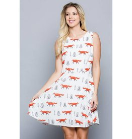 LA Soul All Over Fox Print Dress