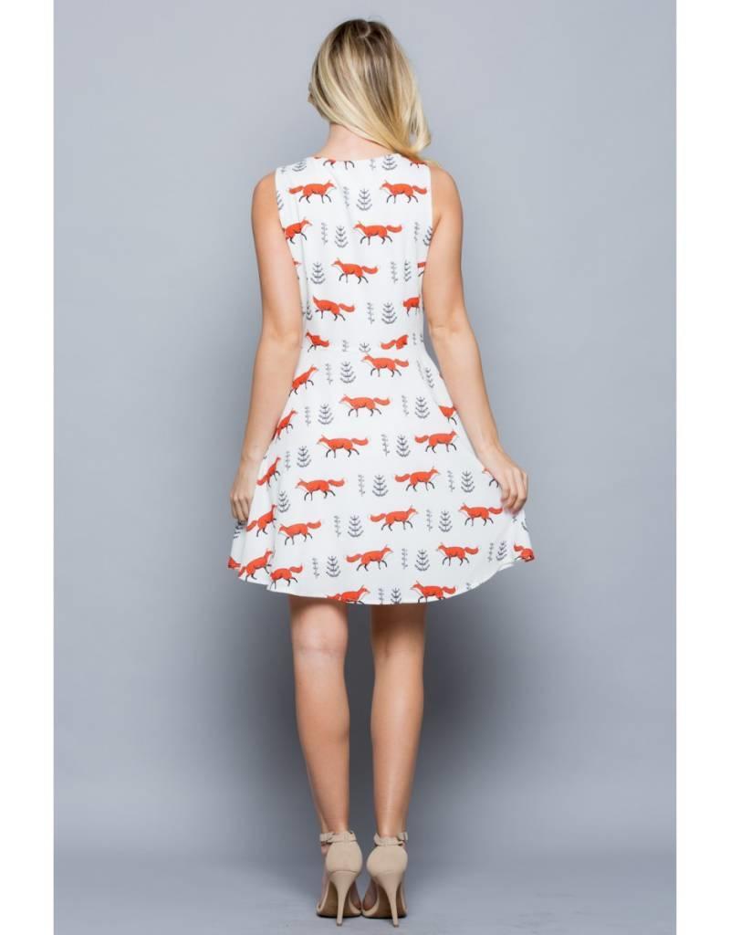 LA Soul All Over Fox Print Dress