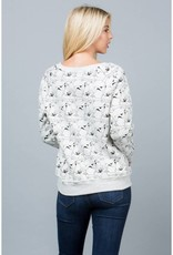 LA Soul All Over Dog Print Sweatshirt
