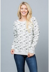 All Over Dog Print Sweatshirt