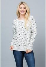 All Over Dog Print Sweatshirt