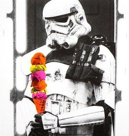 Storm Trooper Risograph Print