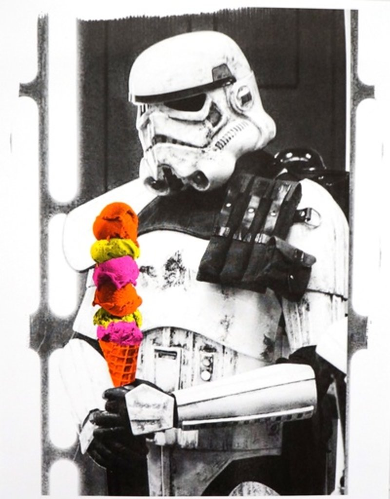 Authorized to Work Press Storm Trooper Risograph Print