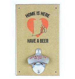 Home is Here RI Bottle Opener