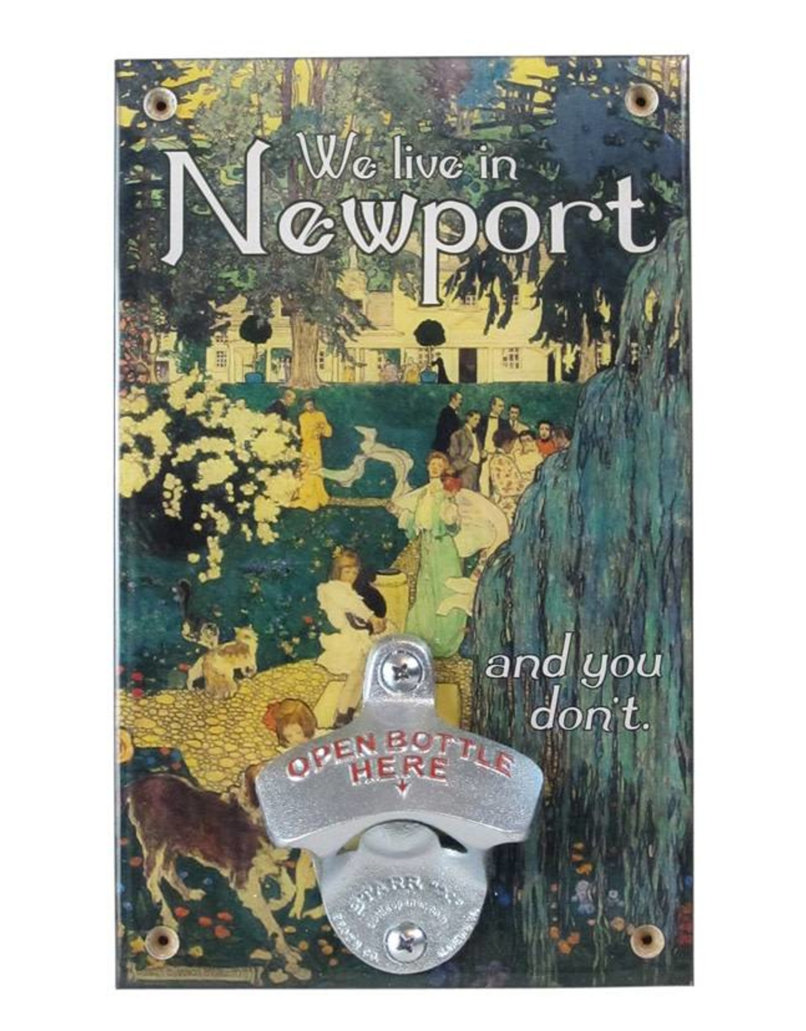 We Live in Newport Bottle Opener