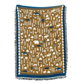 Forest and Waves Great White North Blanket