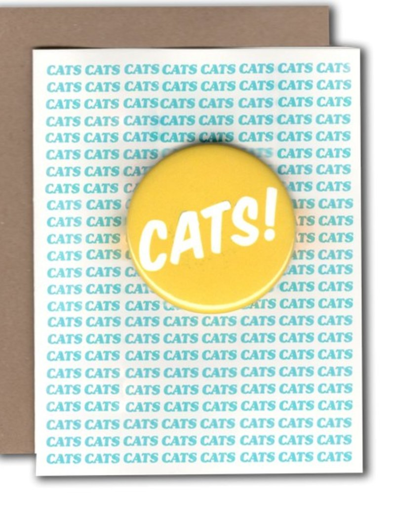 Power & Light Cats! Greeting Card with Button