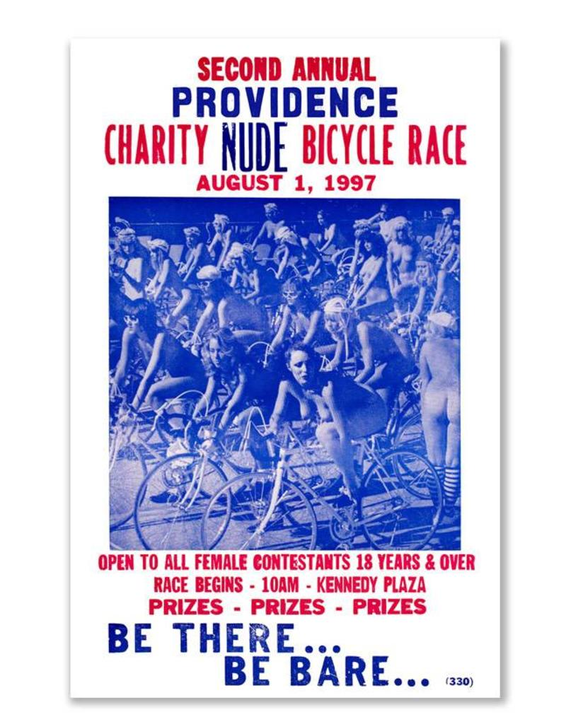 Frog & Toad Design Providence Charity Nude Bicycle Race Magnet