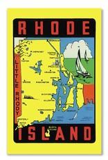 Frog & Toad Design Rhode Island Map Magnet