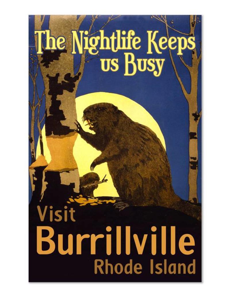 Frog & Toad Design Visit Burrillville Magnet
