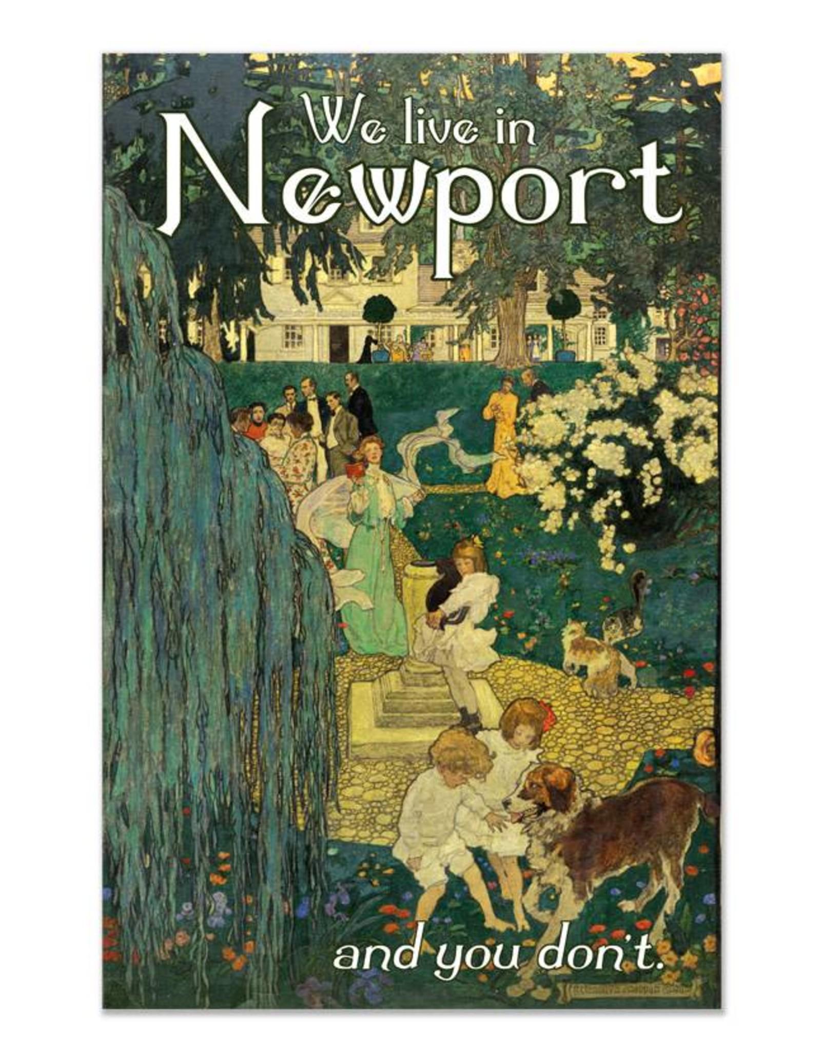 We Live in Newport Magnet