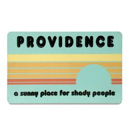 Jim Spinx Shady Providence Magnet - Blue