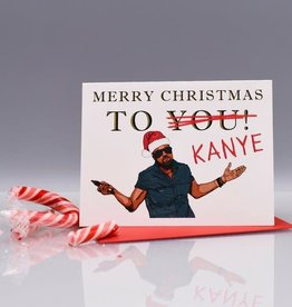Seas and Peas Merry Christmas to Kanye Greeting Card