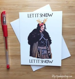 YeaOh Greetings Let It Snow Game of Thrones Greeting Card